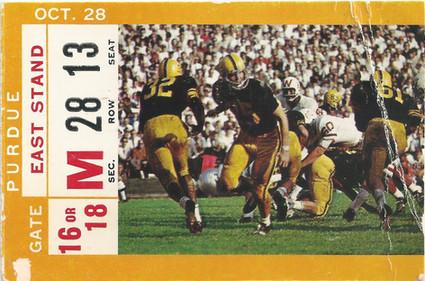 1967 Purdue Ticket