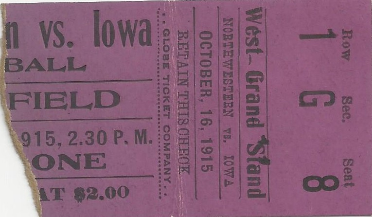 1915 Northwestern stub