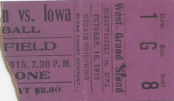 1915 Northwestern stub