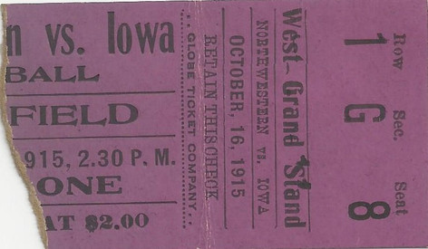 1915 Northwestern Ticket
