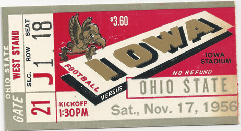1956 Ohio State Ticket