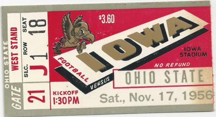 1956 Ohio State Ticket