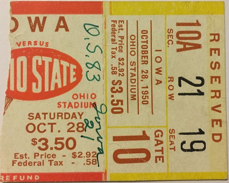1950 @ Ohio State Ticket