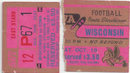 1952 Wisconsin Ticket