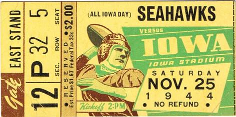 1944 Iowa Preflight Ticket