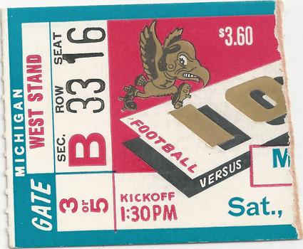 1956 Michigan Ticket