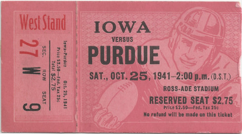 1941 @ Purdue Ticket