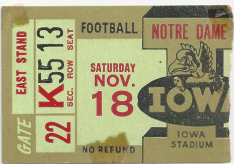 1950 Notre Dame Ticket