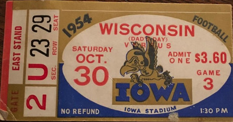 1954 Wisconsin Ticket