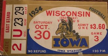 1954 Wisconsin Ticket