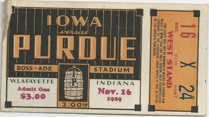 1929 @ Purdue Ticket