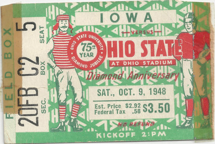 1948 @ Ohio State Ticket