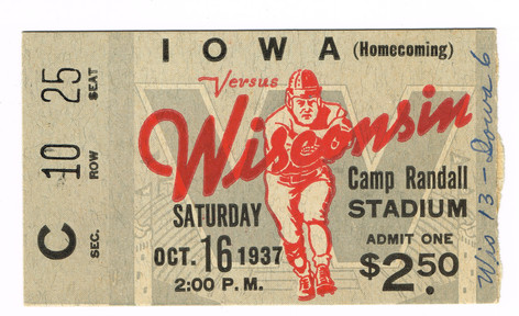 37 @ Wisconsin Ticket