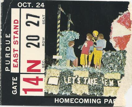 1964 Purdue Ticket