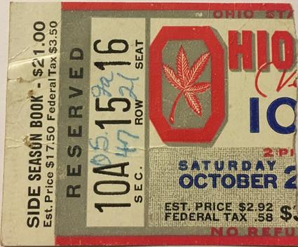 1951 @ Ohio State Ticket