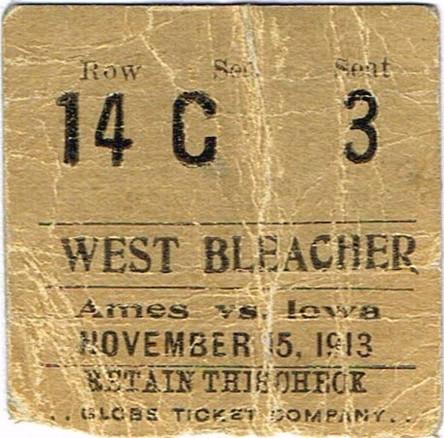 1913 Ames Ticket