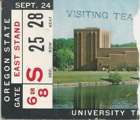 1966 Oregon State Ticket