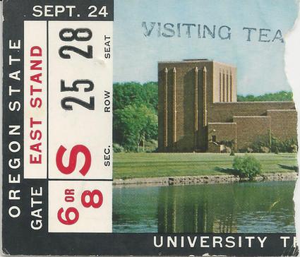 1966 Oregon State Ticket