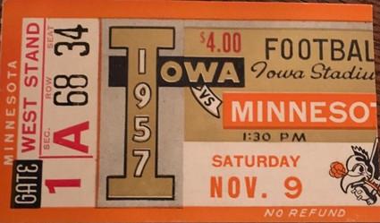 1957 Minnesota Ticket