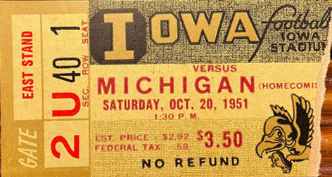 1951 Michigan Ticket