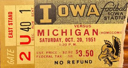 1951 Michigan Ticket