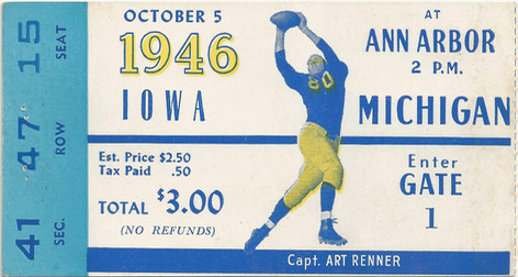 1946 @ Michigan Ticket