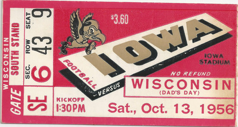 1956 Wisconsin Ticket