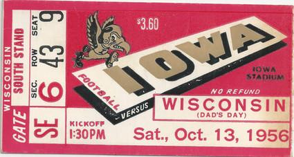 1956 Wisconsin Ticket