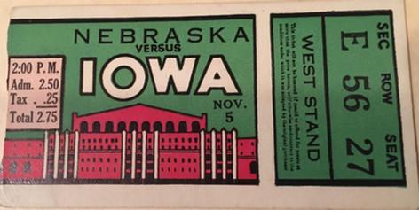 1932 Nebraska Ticket