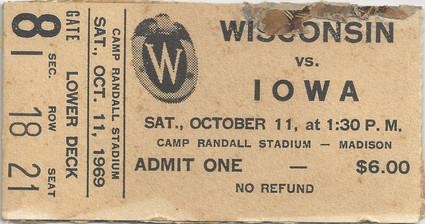 1969 @ Wisconsin Ticket
