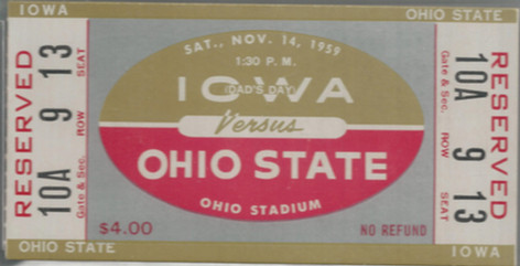 1959 @ Ohio State Ticket