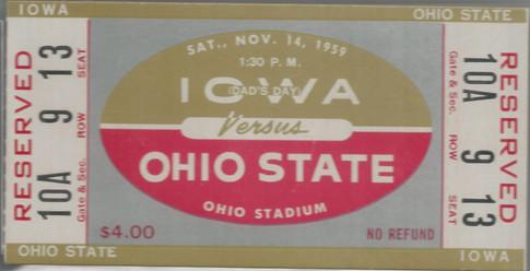 1959 @ Ohio State Ticket