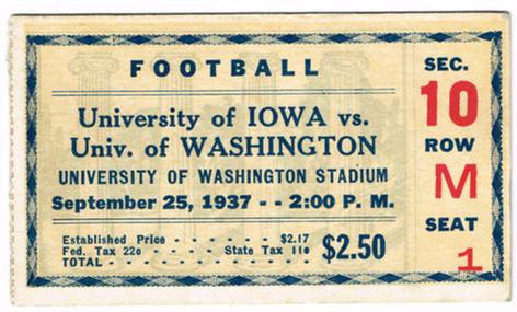 37 @ Washington Ticket