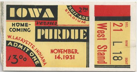 1931 @ Purdue Ticket