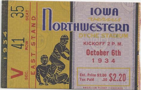 1934 @ Northwestern Ticket