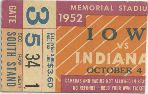 1952 @ Indiana Ticket