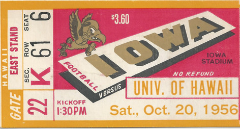 1956 Hawaii Ticket