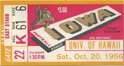1956 Hawaii Ticket