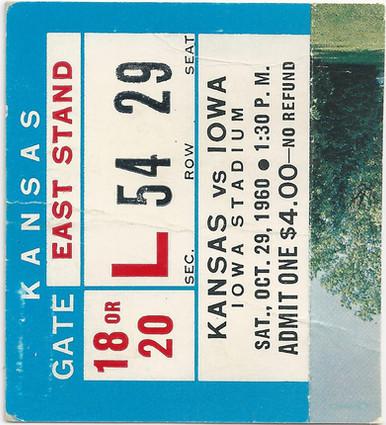 1960 Kansas Ticket