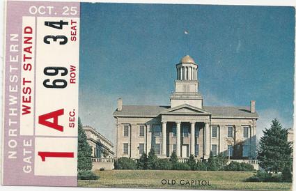 1958 Northwestern Ticket
