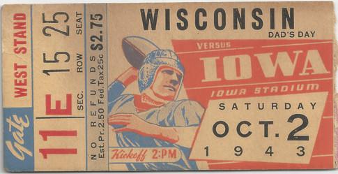 1943 Wisconsin Ticket