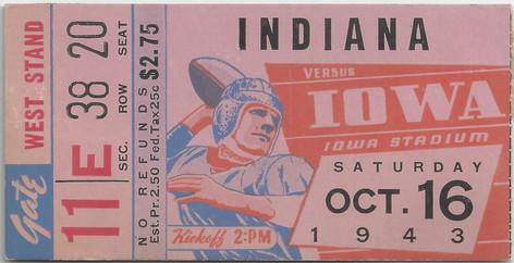 1943 Indiana Ticket