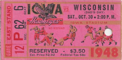 1948 Wisconsin Ticket