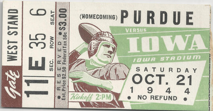 1944 Purdue Ticket