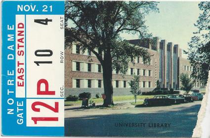 1959 Notre Dame Ticket