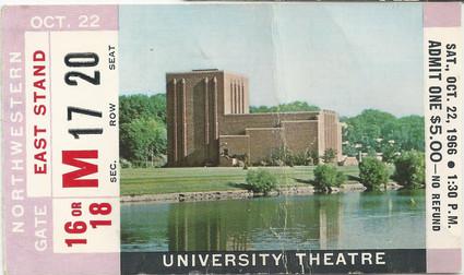 1966 Northwestern Ticket