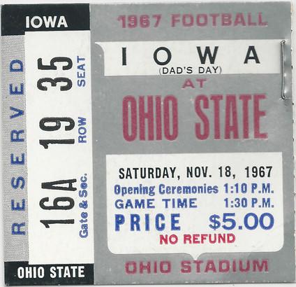 1967 @ Ohio St Ticket