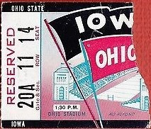 1963 @ Ohio State Ticket