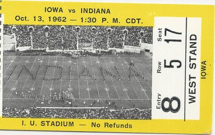 1962 @ Indiana Ticket
