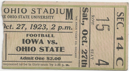 1923 @ Ohio State Ticket